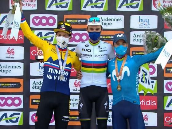 Podium Flèche Wallonne 2021 masculine